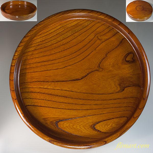 木製九寸丸盆W6743