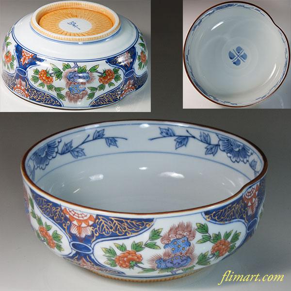 昭栄窯六寸鉢W6768