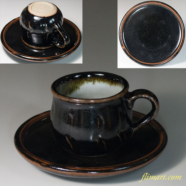 飴釉碗皿W6773