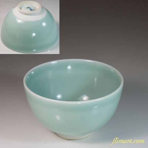 白青磁抹茶碗W6964