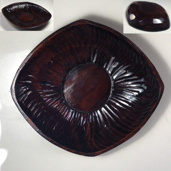 讃岐彫木製菱形茶托