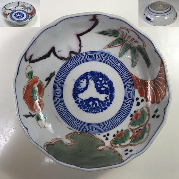 色絵膾皿W7396