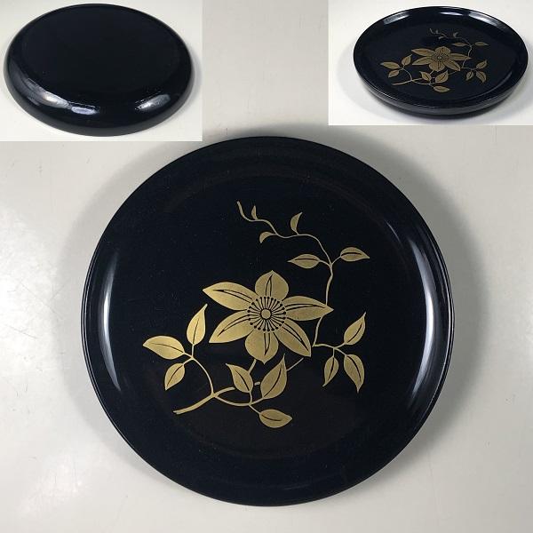木製漆器会津塗鉄仙豆皿