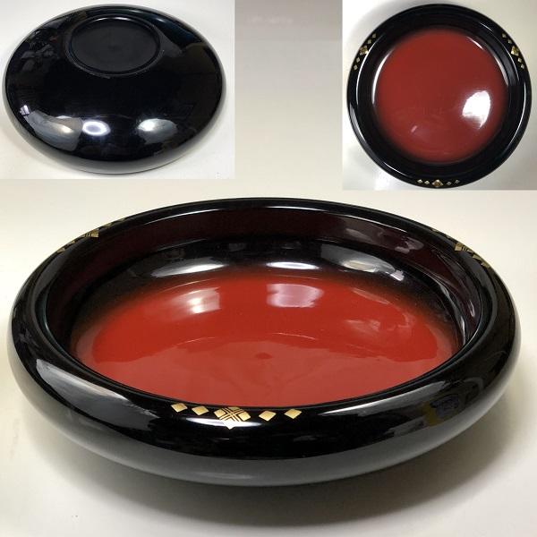 木製漆器菓子鉢W7452