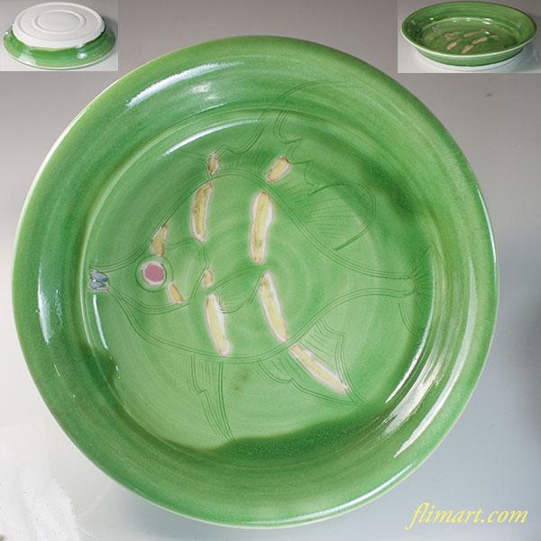 魚柄八寸皿W6804