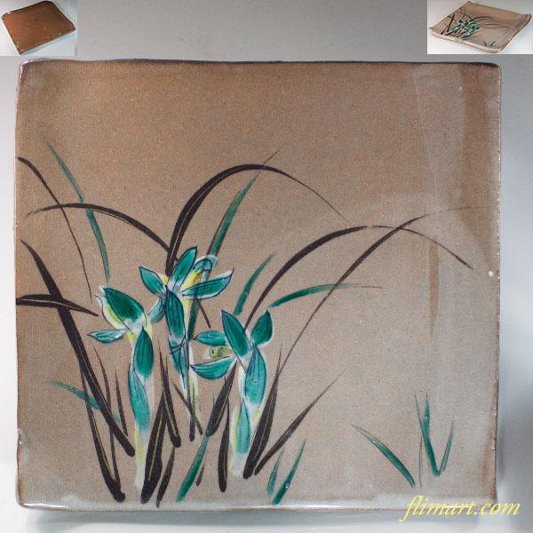 菖蒲角皿大皿W6803