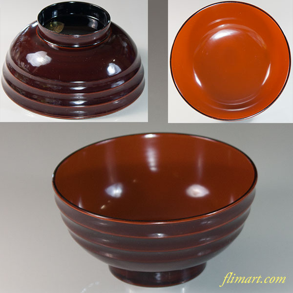 木製漆器本漆碗W6810