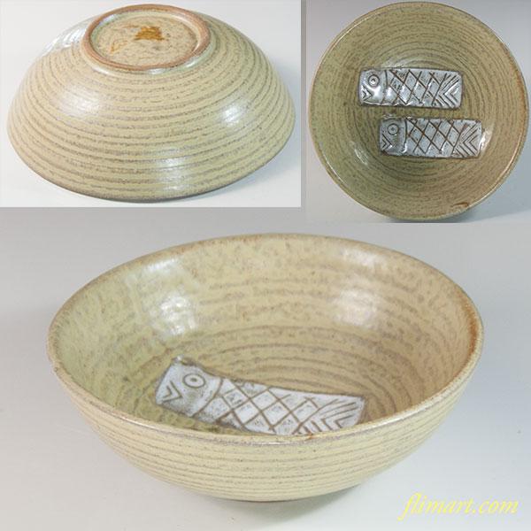 魚図小鉢W6831