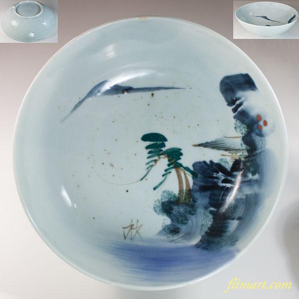 山水八寸鉢W6818