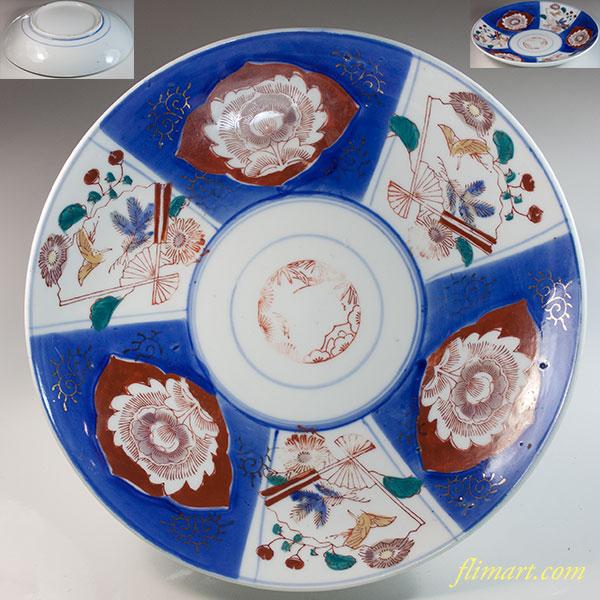 色絵八寸皿W6825