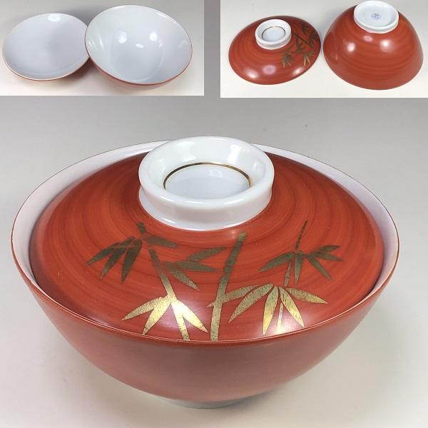 たち吉蓋付飯茶碗竹