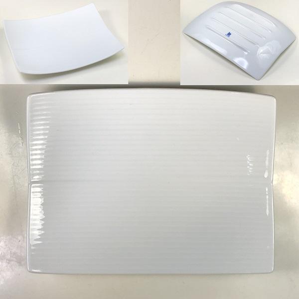 白山陶器角皿W7498