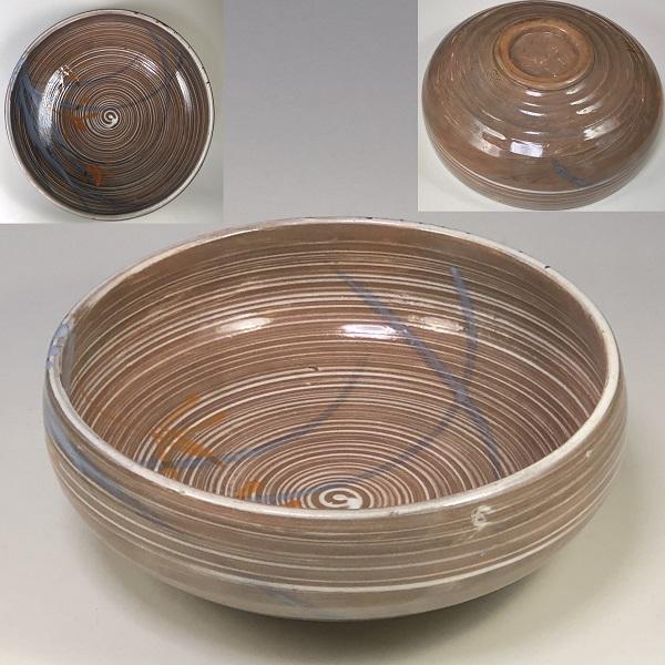 統制陶器「丸万85」刷毛目菓子鉢