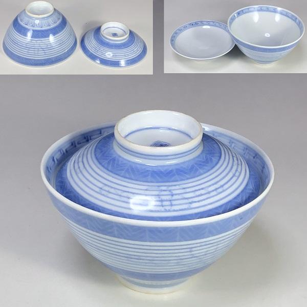 蓋付飯茶碗W7566
