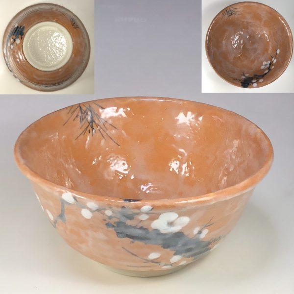 志野梅図菓子鉢W7572