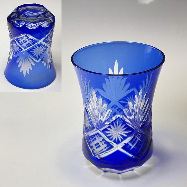 切子ガラスコップW7575