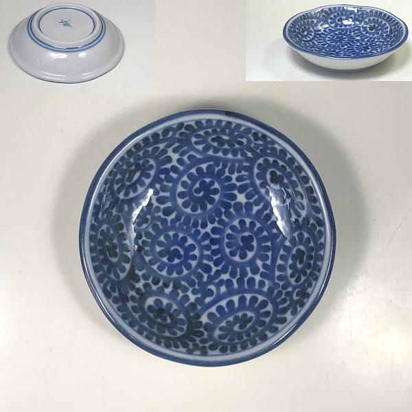 蛸唐草豆皿W7599