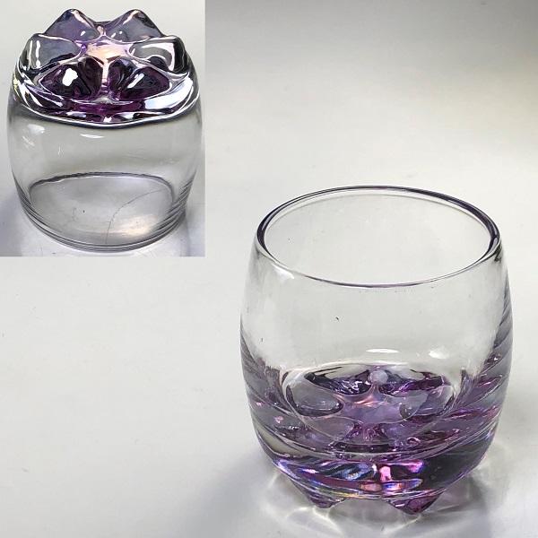 カメイガラス紫冷酒グラス