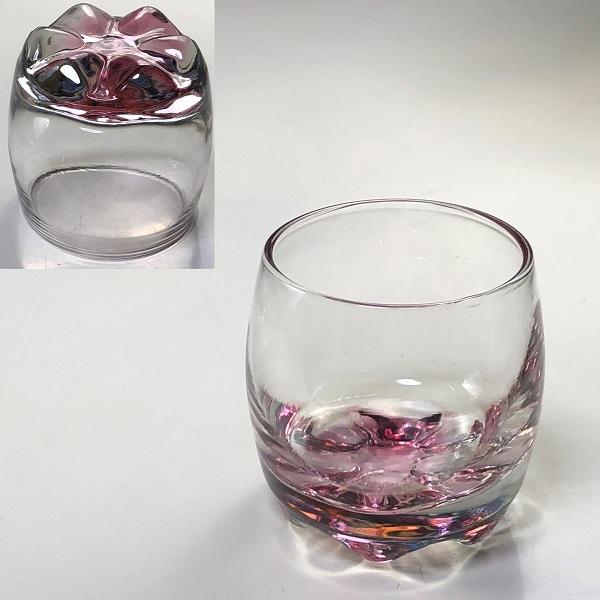 カメイガラスピンク冷酒グラス
