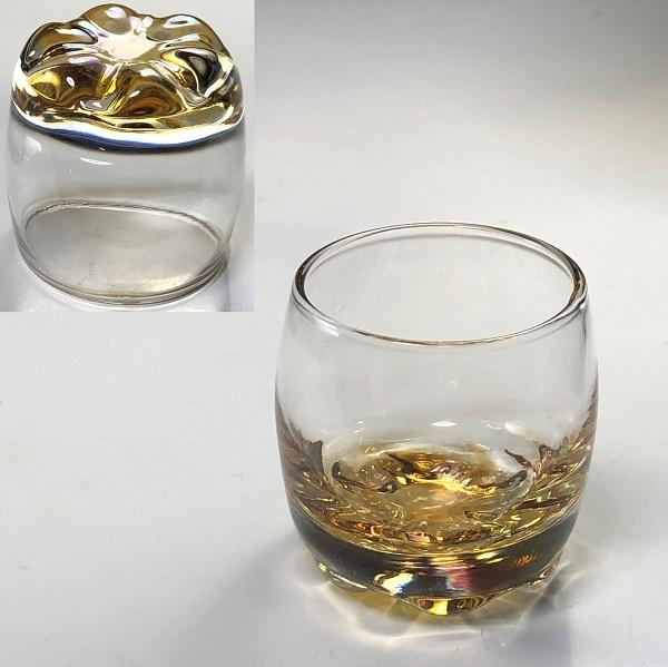 カメイガラス飴色冷酒グラス