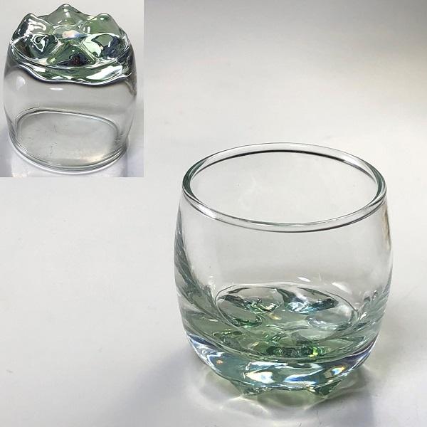 カメイガラス緑冷酒グラス