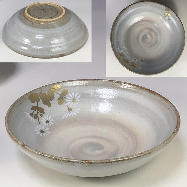 たち吉金彩草花煮物鉢W7619