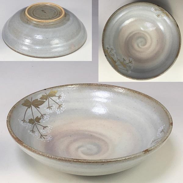 たち吉金彩草花煮物鉢W7630