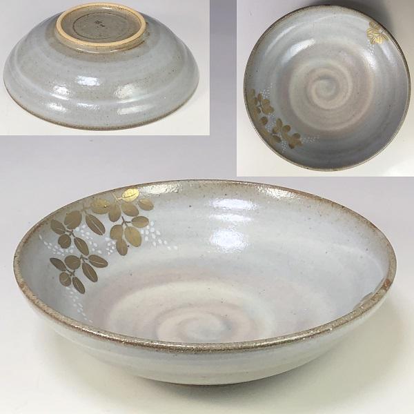 たち吉金彩草花煮物鉢W7625