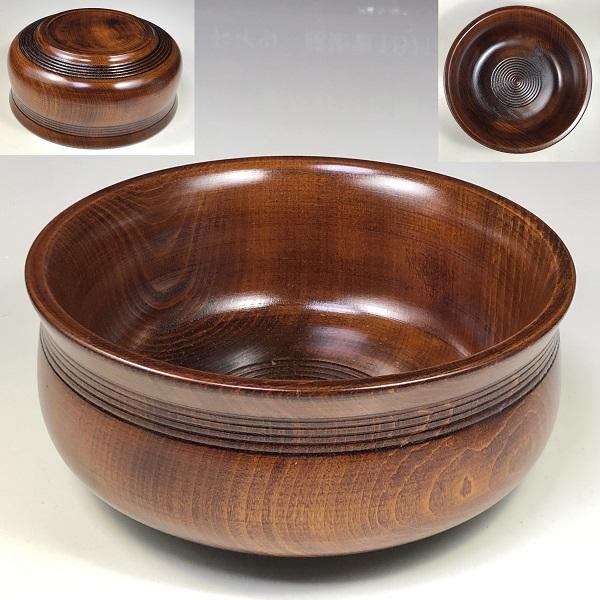 山中塗木製漆器菓子鉢W7671