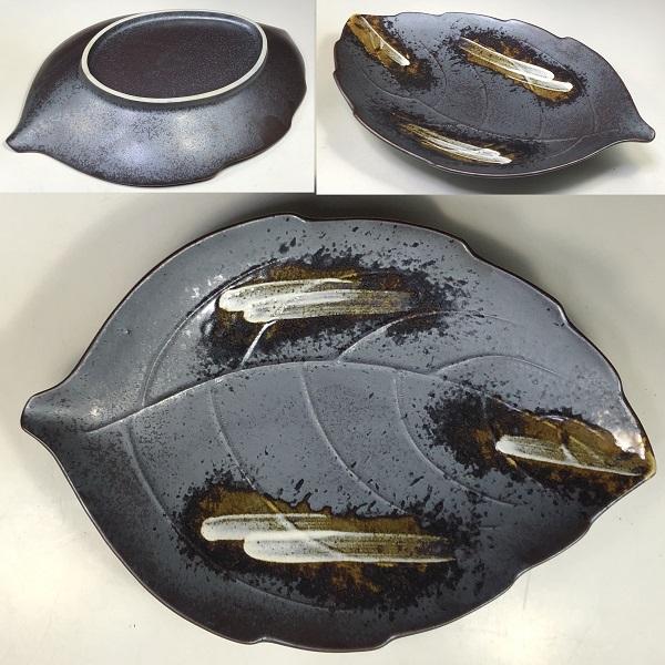 壱峰窯窯変釉盛皿