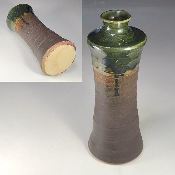 緑釉花瓶W7695