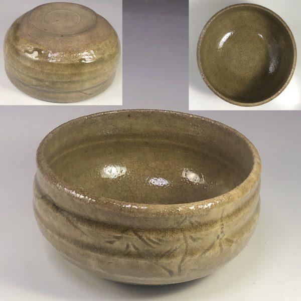 黄瀬戸抹茶碗W7709
