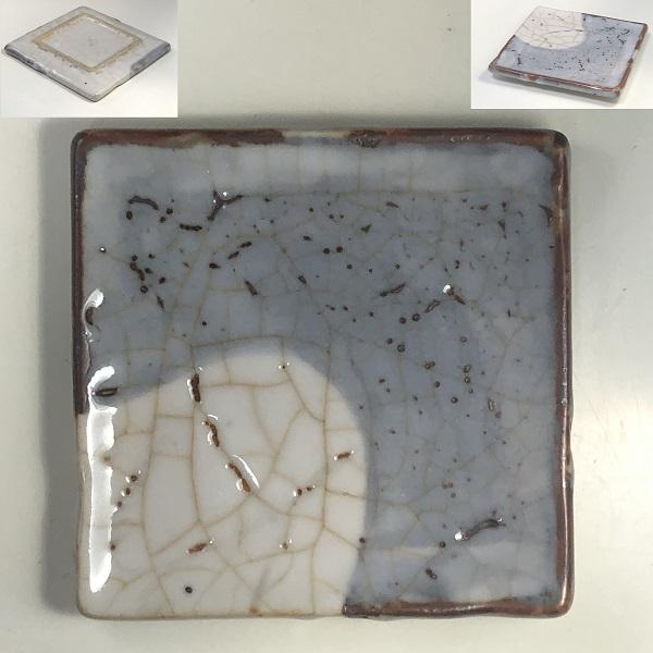 鼠志野角皿小皿W7744