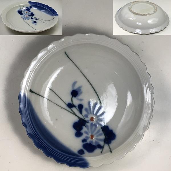菊柄小皿W7750