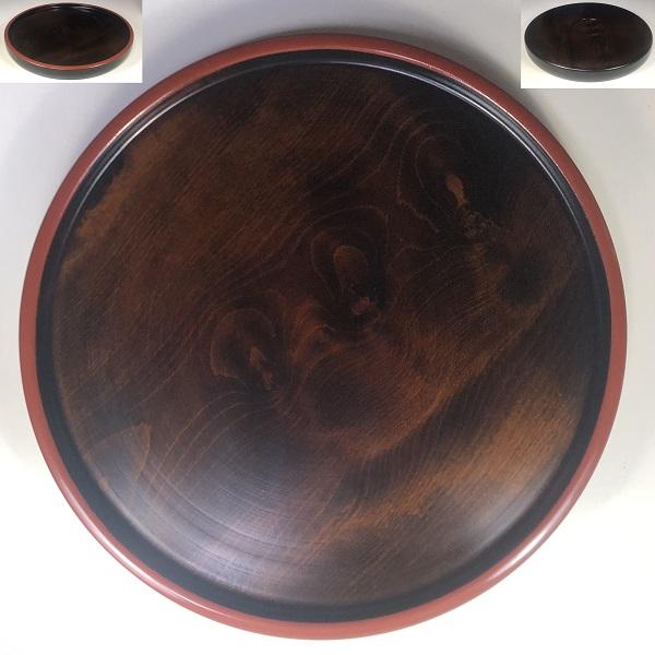 木製一尺丸盆W7815