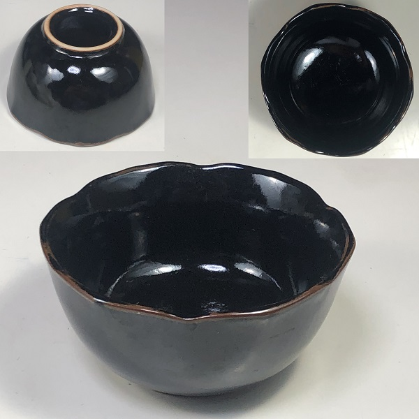 鉄釉豆鉢W7823