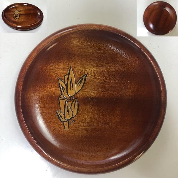 木製菓子皿銘々皿W7836