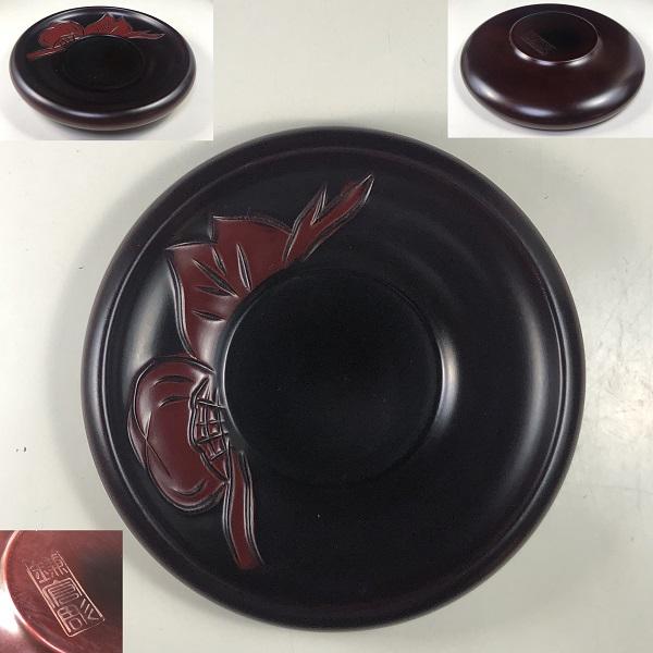 鎌倉彫茶托二枚セット