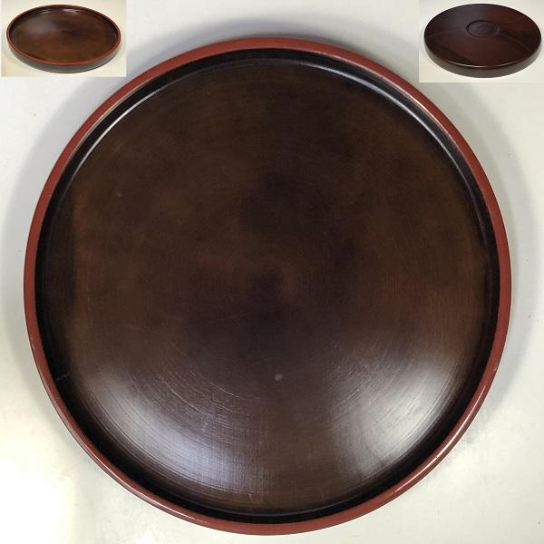 木製九寸丸盆W7838