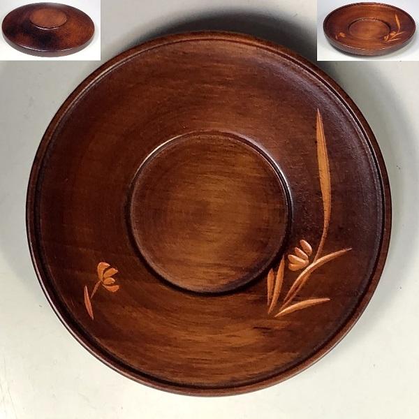 木製茶托五枚セットW8136