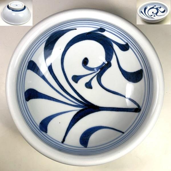 砥部焼梅山窯七寸鉢W8149