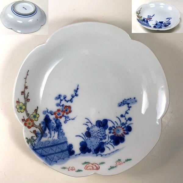 梅型五寸小皿W8224
