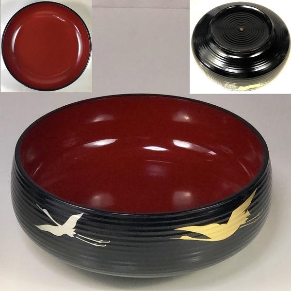 象彦金銀鶴菓子鉢