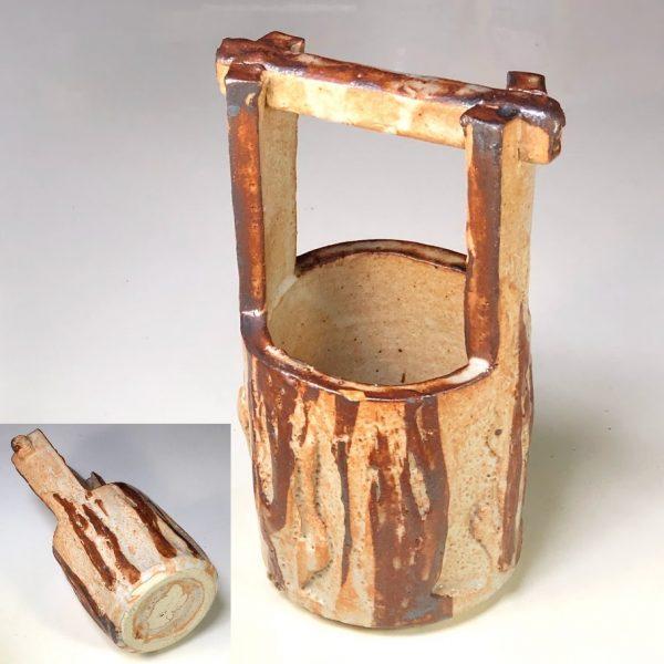 正龍窯志野釣瓶花瓶