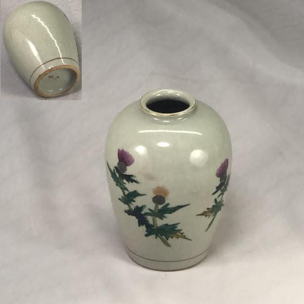 九谷焼花瓶W7145