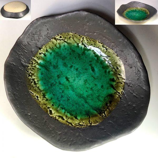 緑釉盛鉢W8300