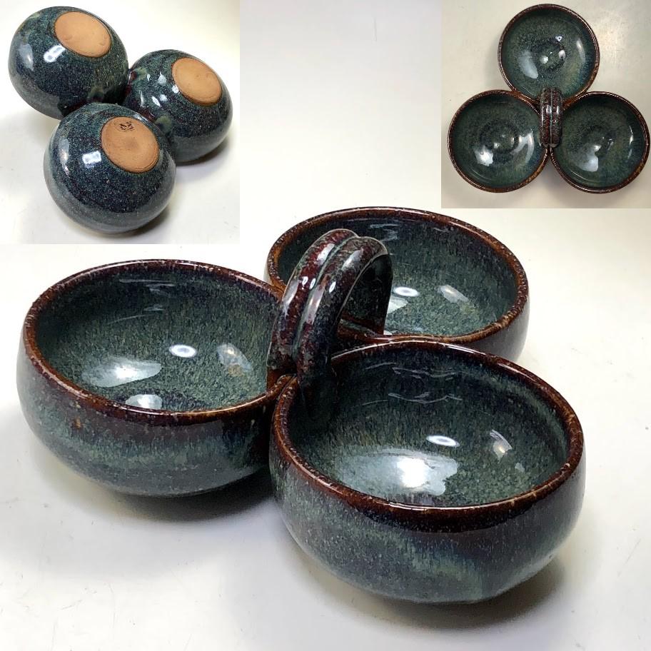 海鼠釉漬物皿