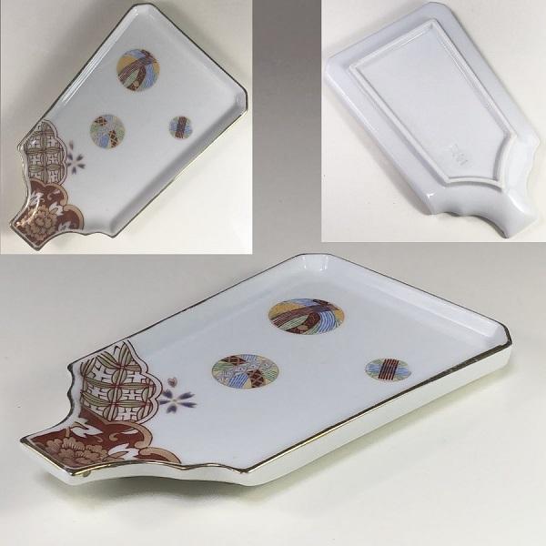 燿窯羽子板型銘々皿W7252