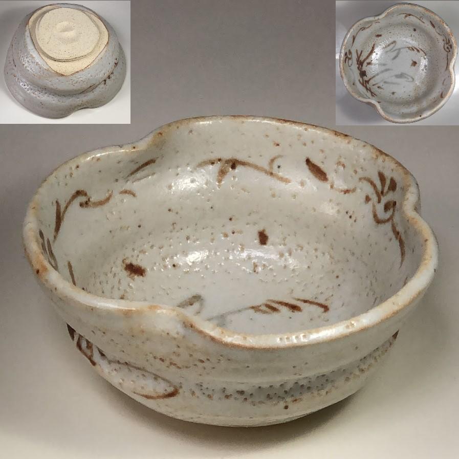 孝龍窯志野菓子鉢
