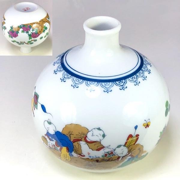 唐子徳利花瓶W8374